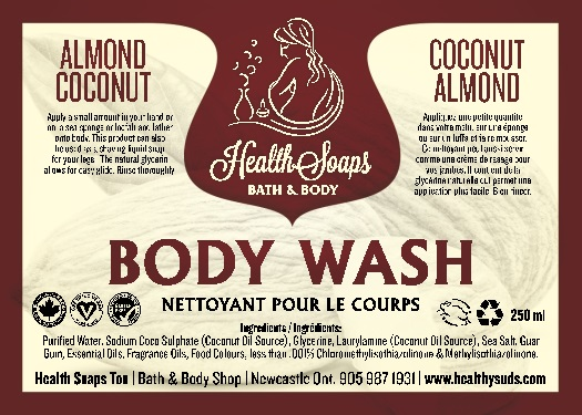 Almond Coconut Body Wash 250ml
