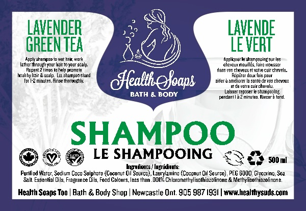 Lavender Green Tea Shampoo 500ml