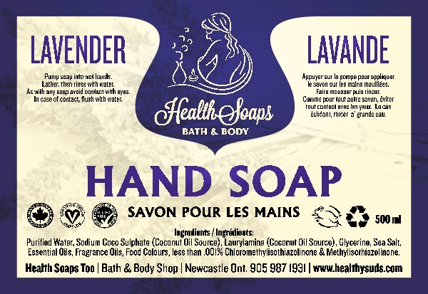 Lavender Hand Soap with pump 500ml