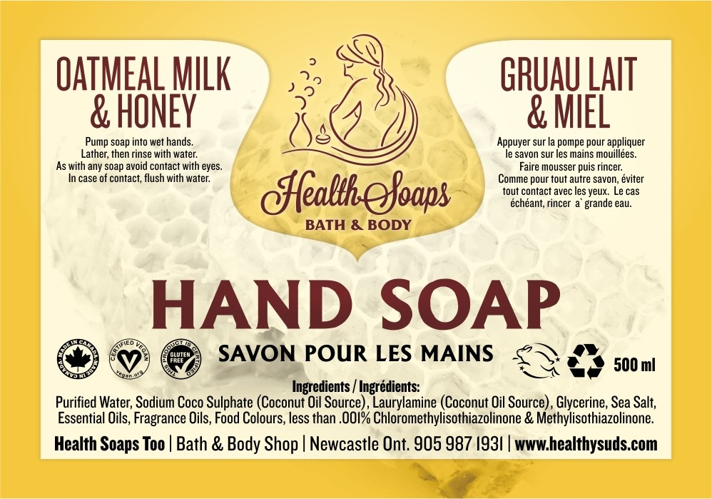 Oatmeal Milk & Honey Hand Soap with pump 500ml