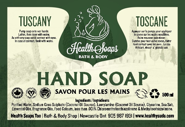 Tuscany Hand Soap with pump 500ml