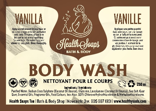 Vanilla Body Wash 250ml