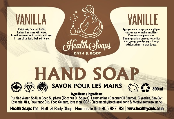 Vanilla Hand Soap with pump 500ml